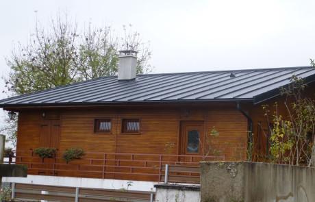 Couverture zinc détail cheminée
