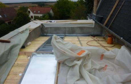 isolation des combles - pose toiture zinc