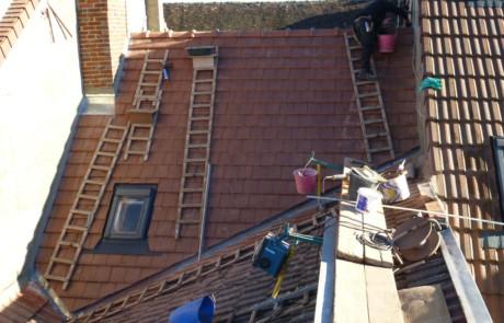 renovation toiture en tuiles mécaniques