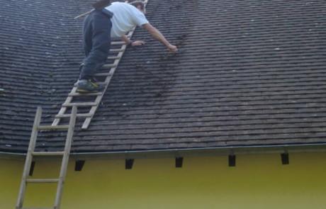 démoussage toit